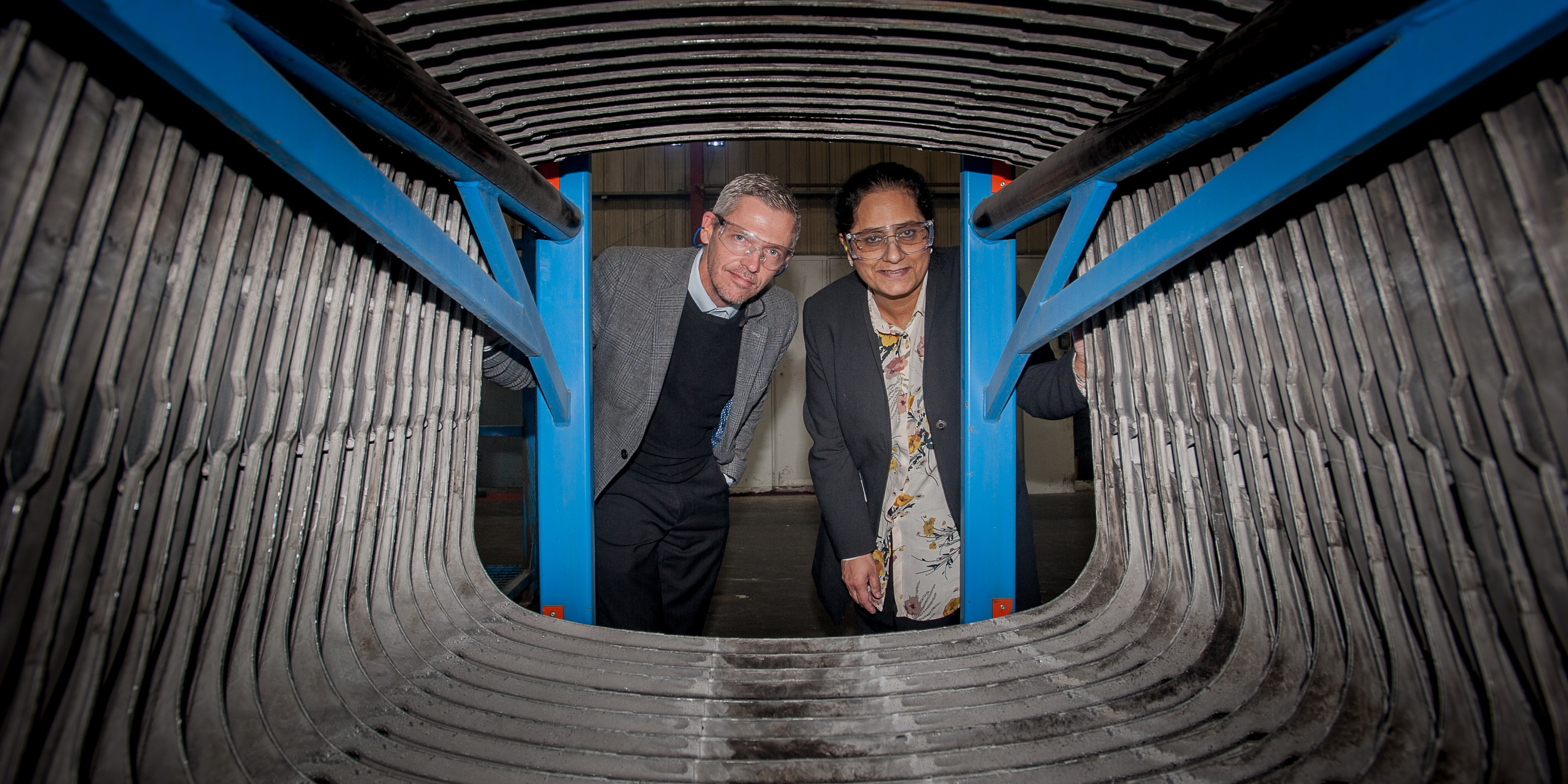 Professor Hanifa Shah of Birmingham City University with Randy Chalmers of Meridian