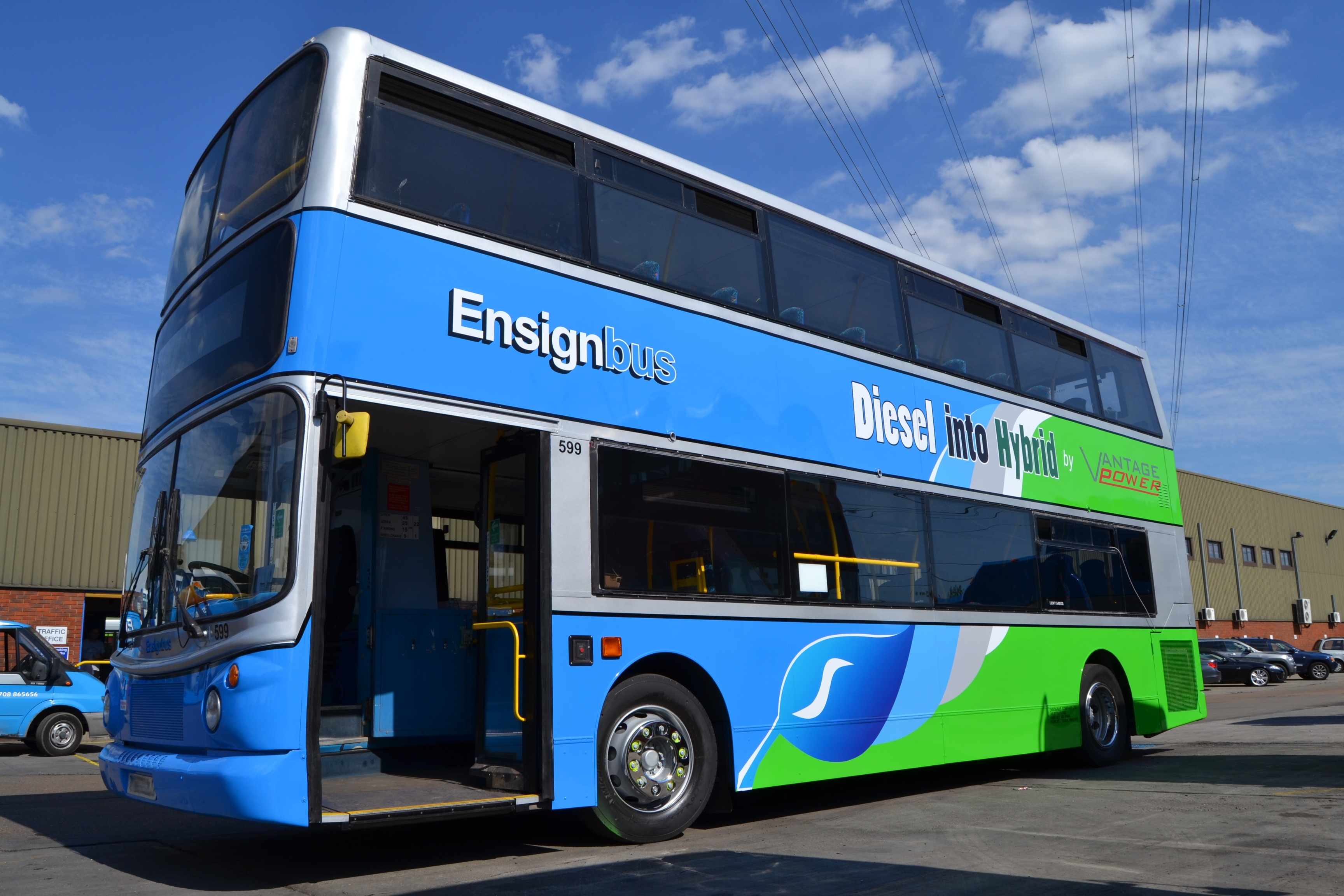 Prototype double decker bus fitted with the B320 hybrid power train
