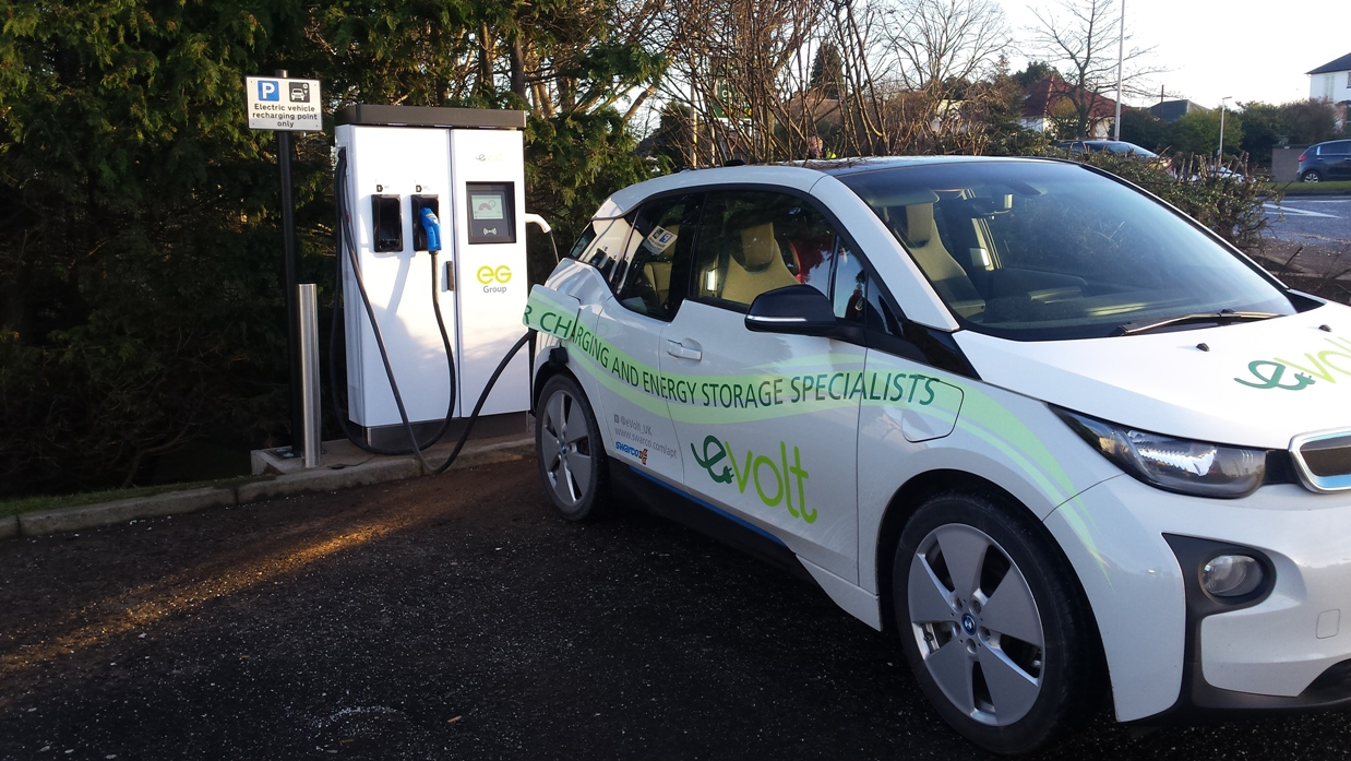 Rapid charging units at two Euro Garages sites in Scotland