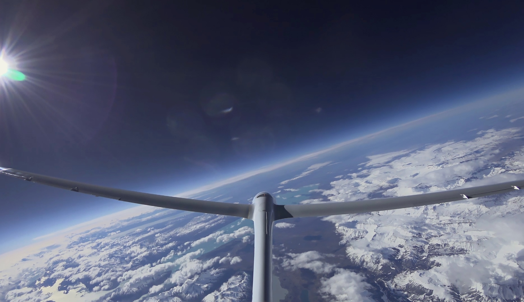 Record breaking glider flight over Patagonia