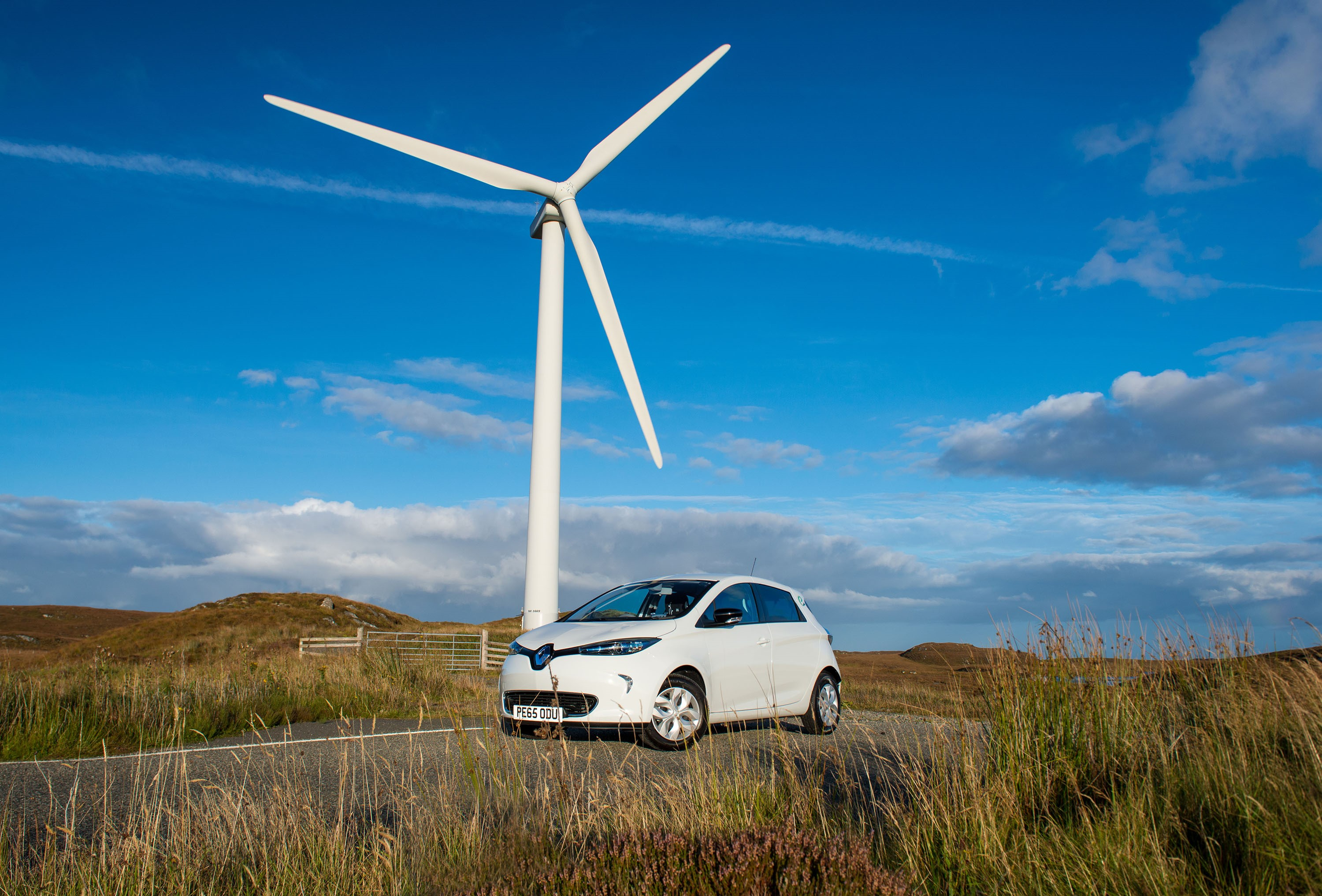 Renewable energy powered Renaults for hire in Scotland