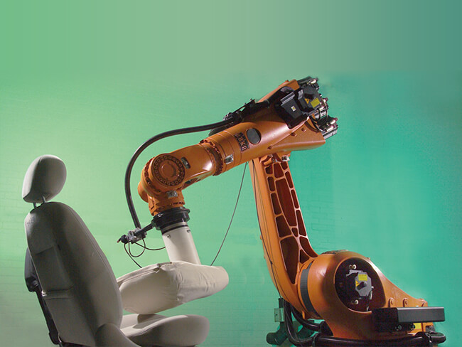 Robotic accelerated upholstery life testing of commercial vehicle seats