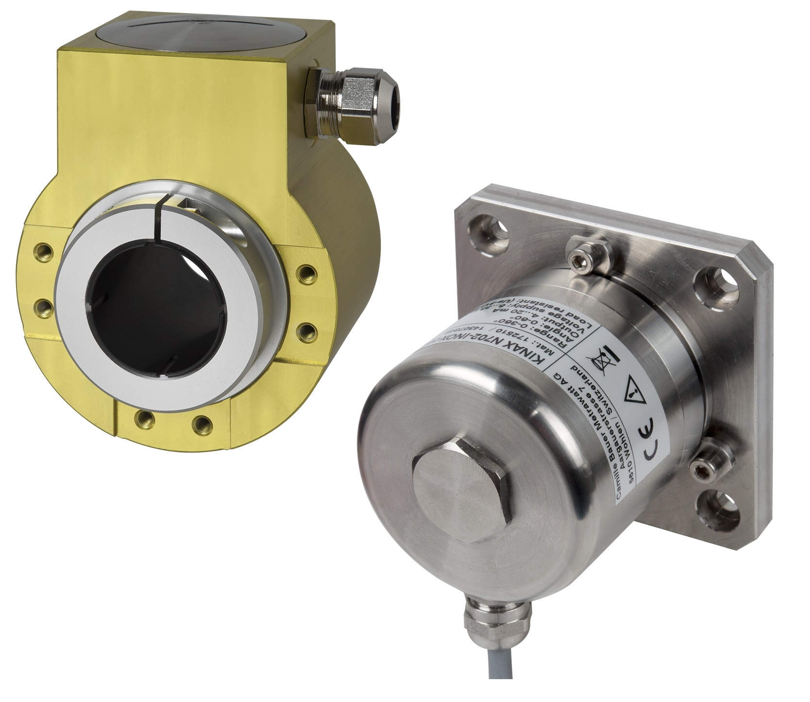 Robust rotary transmitters and tilt sensors