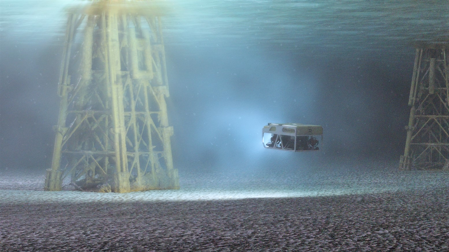 Rovco 3D reconstruction of a subsea jacket structure