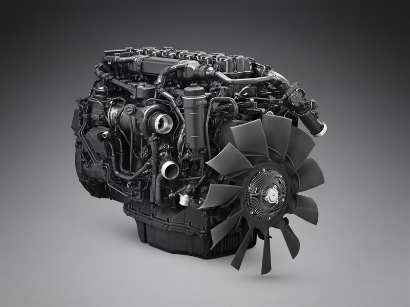 Scania gas engine for long distance freight transport