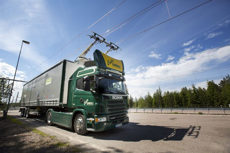 Scania truck uses Swedish e-Road