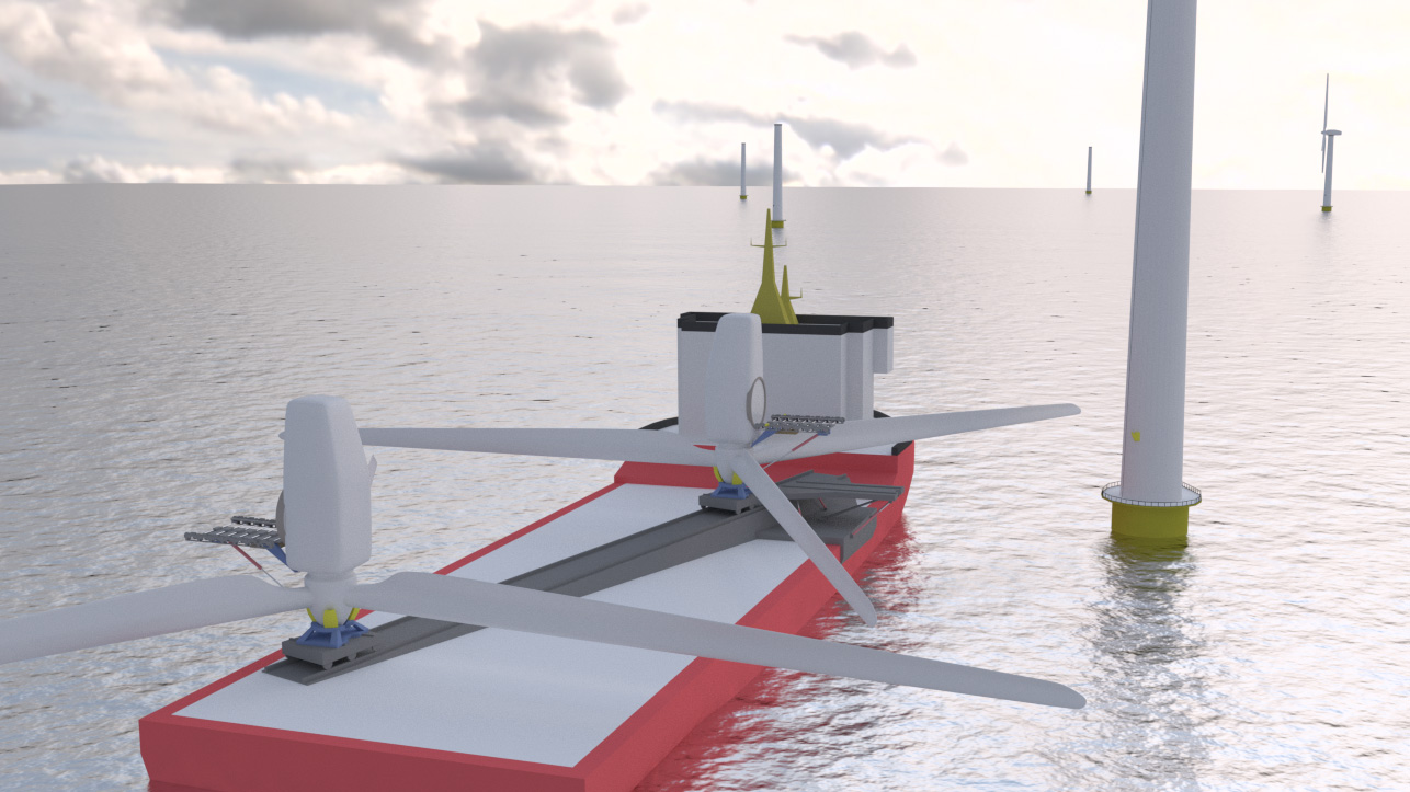 Self Erecting Nacelle System (SENSE) for wind energy