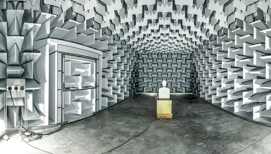 Semi-anechoic chamber at Ghent University