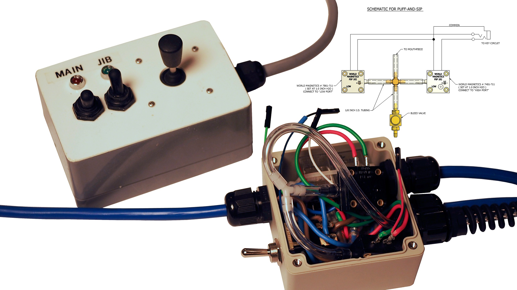 Sip and Puff pressure switch controller