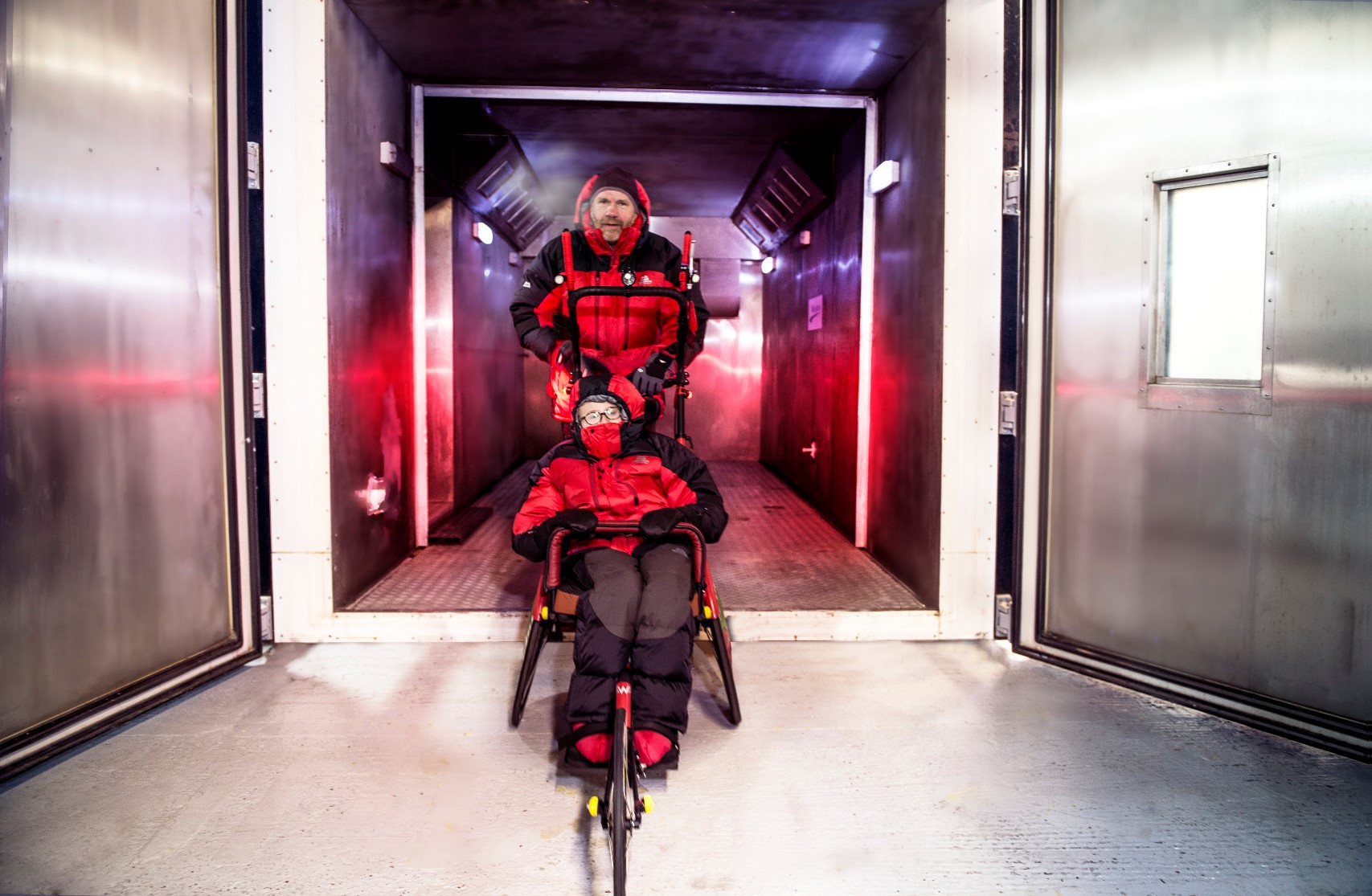 Stephan and Chloe Couture prepare for winter endurance events in Millbrook climatic chamber