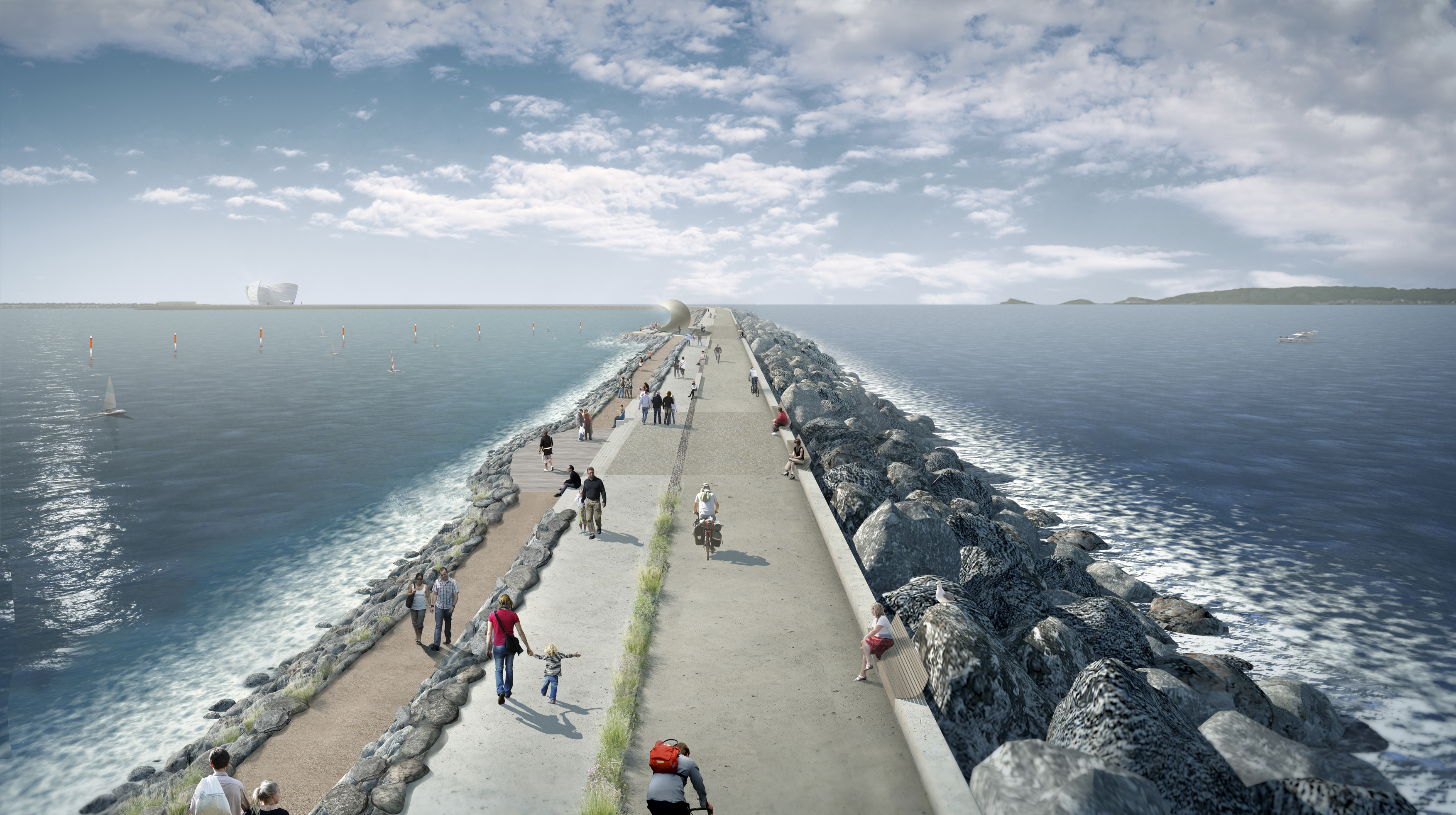 Swansea Bay Tidal Lagoon wall - courtesy of Atkins