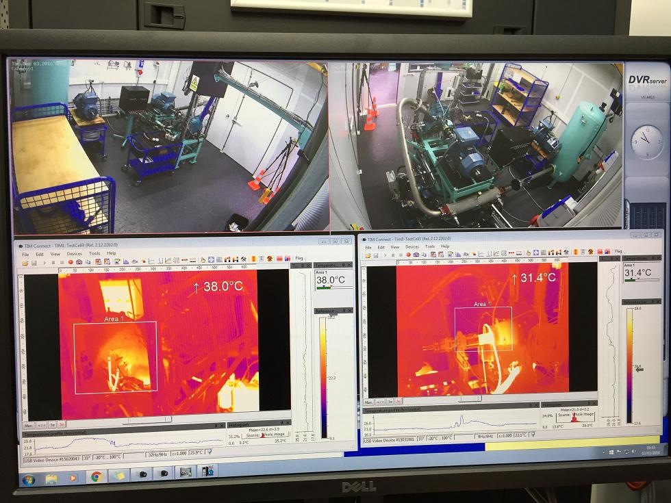 Temperature profile measurement using thermal imaging cameras
