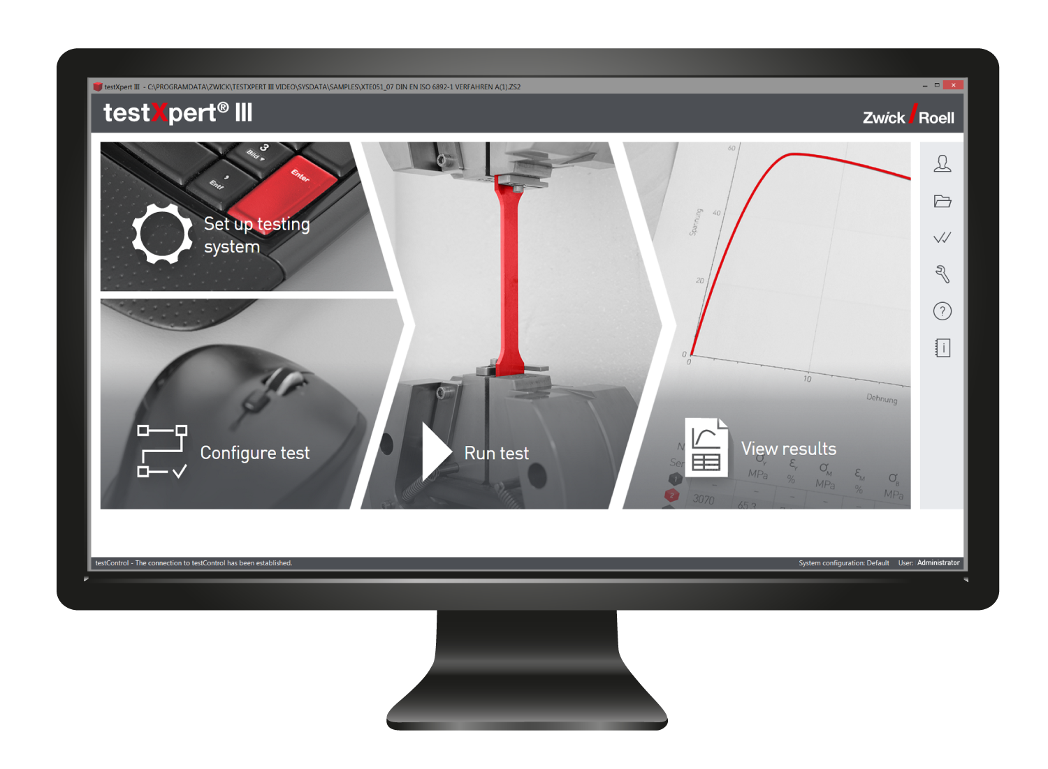 TestXpert III user interface is designed to be simple and intuitive