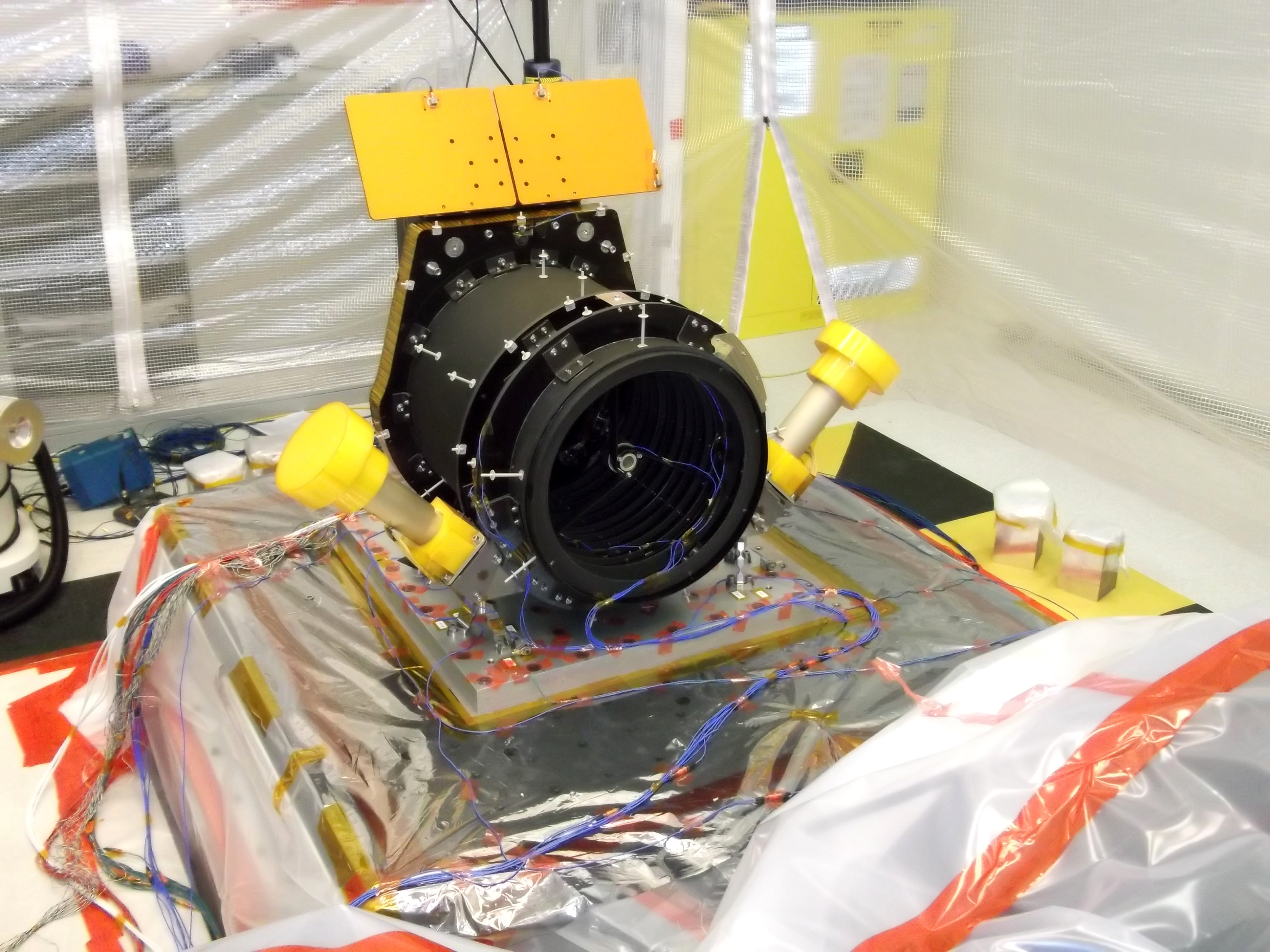 Testing Cheops telescope