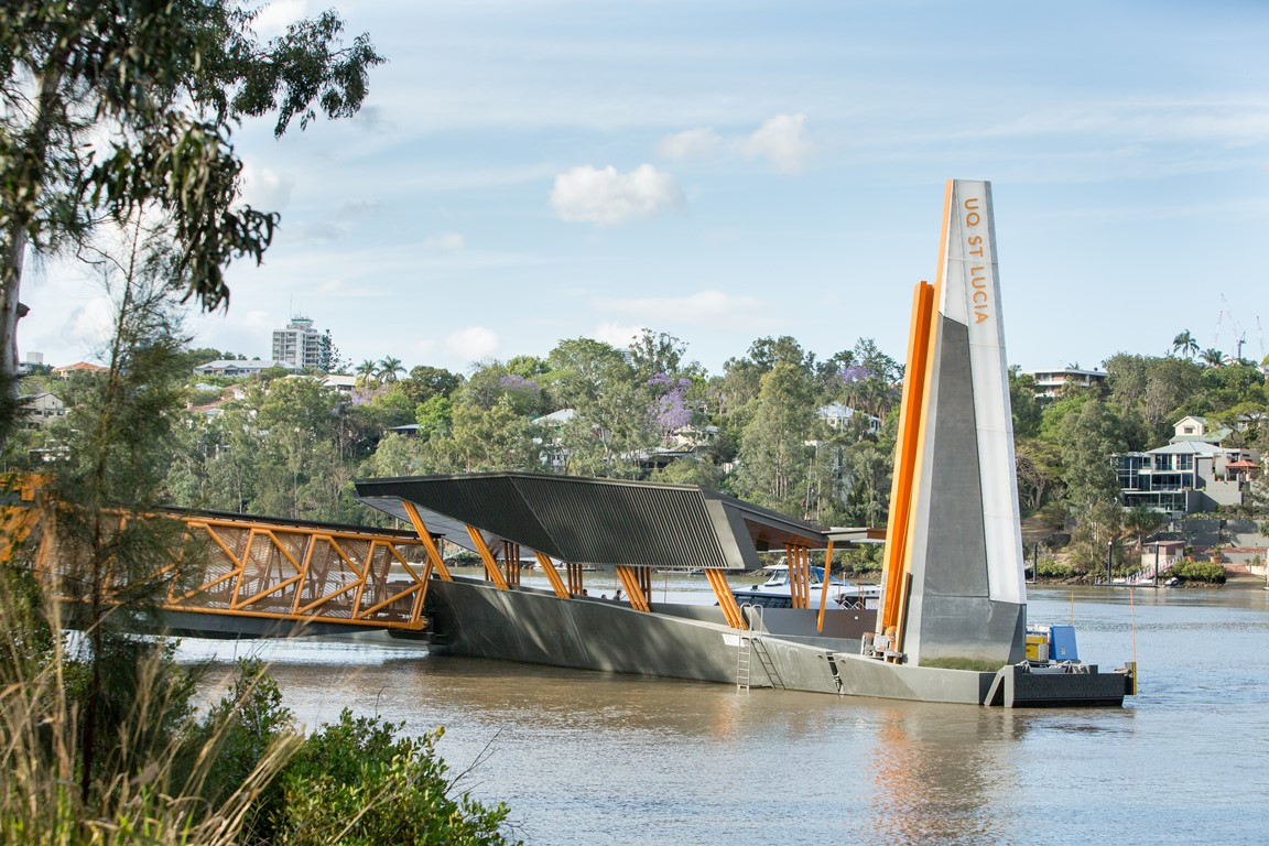 The Brisbane river now benefits from flood resilient ferry terminals
