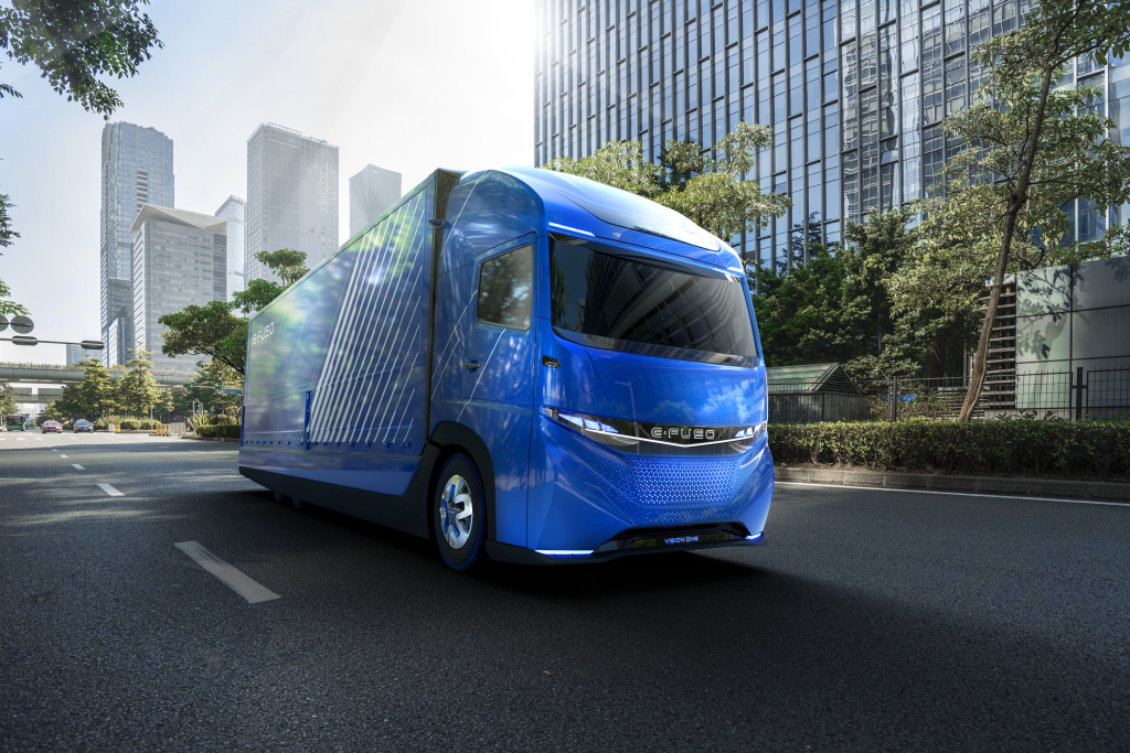 The Daimler E-Fuso all electric heavy duty truck