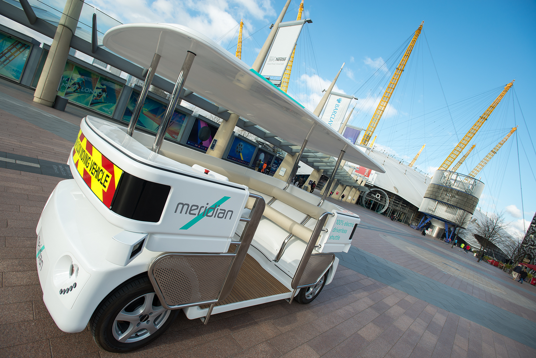 The Greenwich peninsula autonomous shuttle