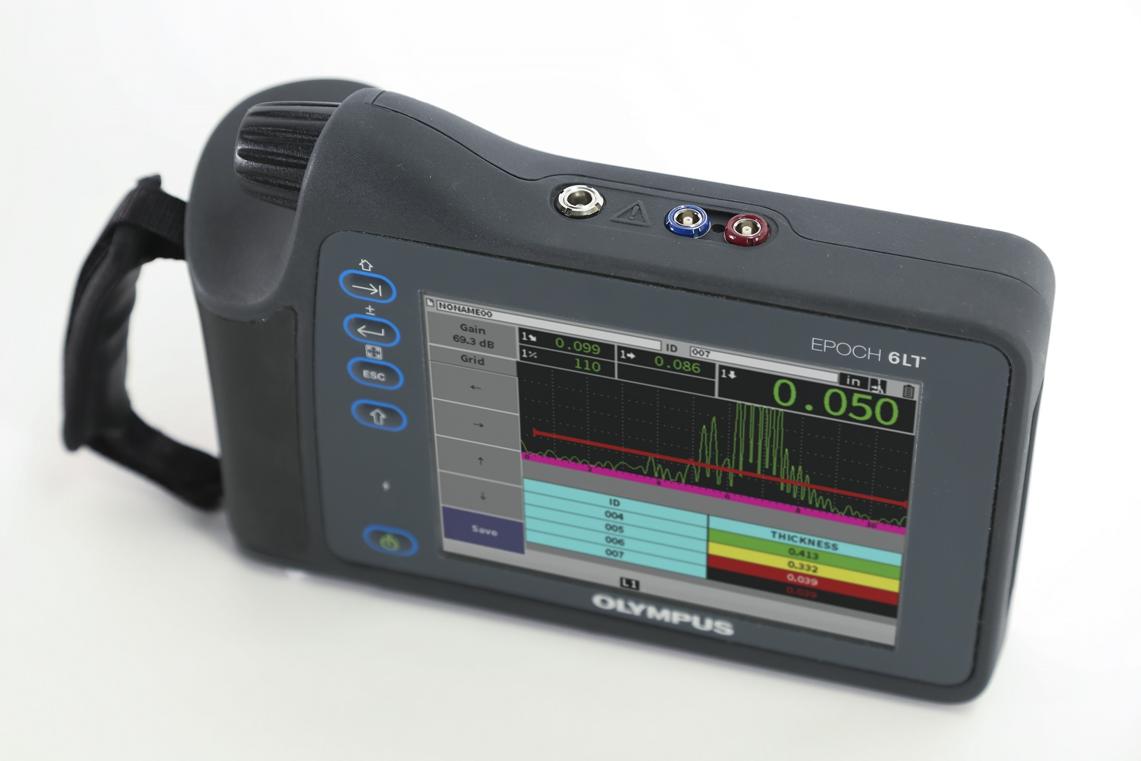 Ultrasonic flaw detector for industrial inspection