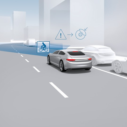 Urban predictive braking protects vulnerable road users
