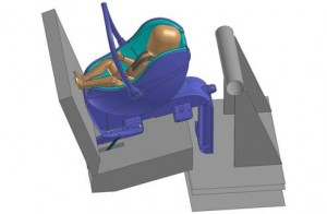 Virtual Seat model of child safety seat