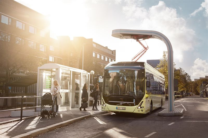 Volvo bus electric charging station