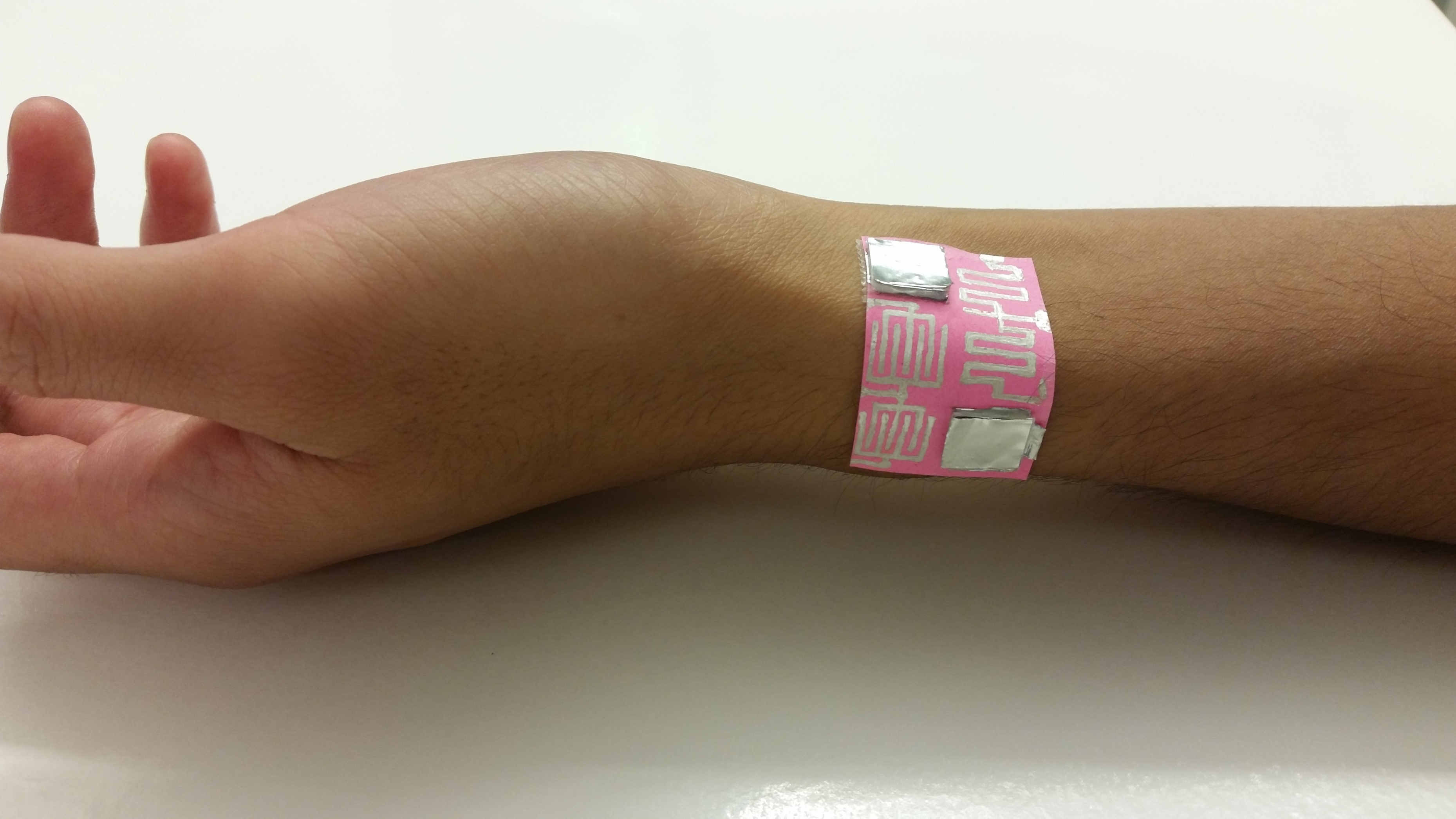 Wearable electronics using paper skin
