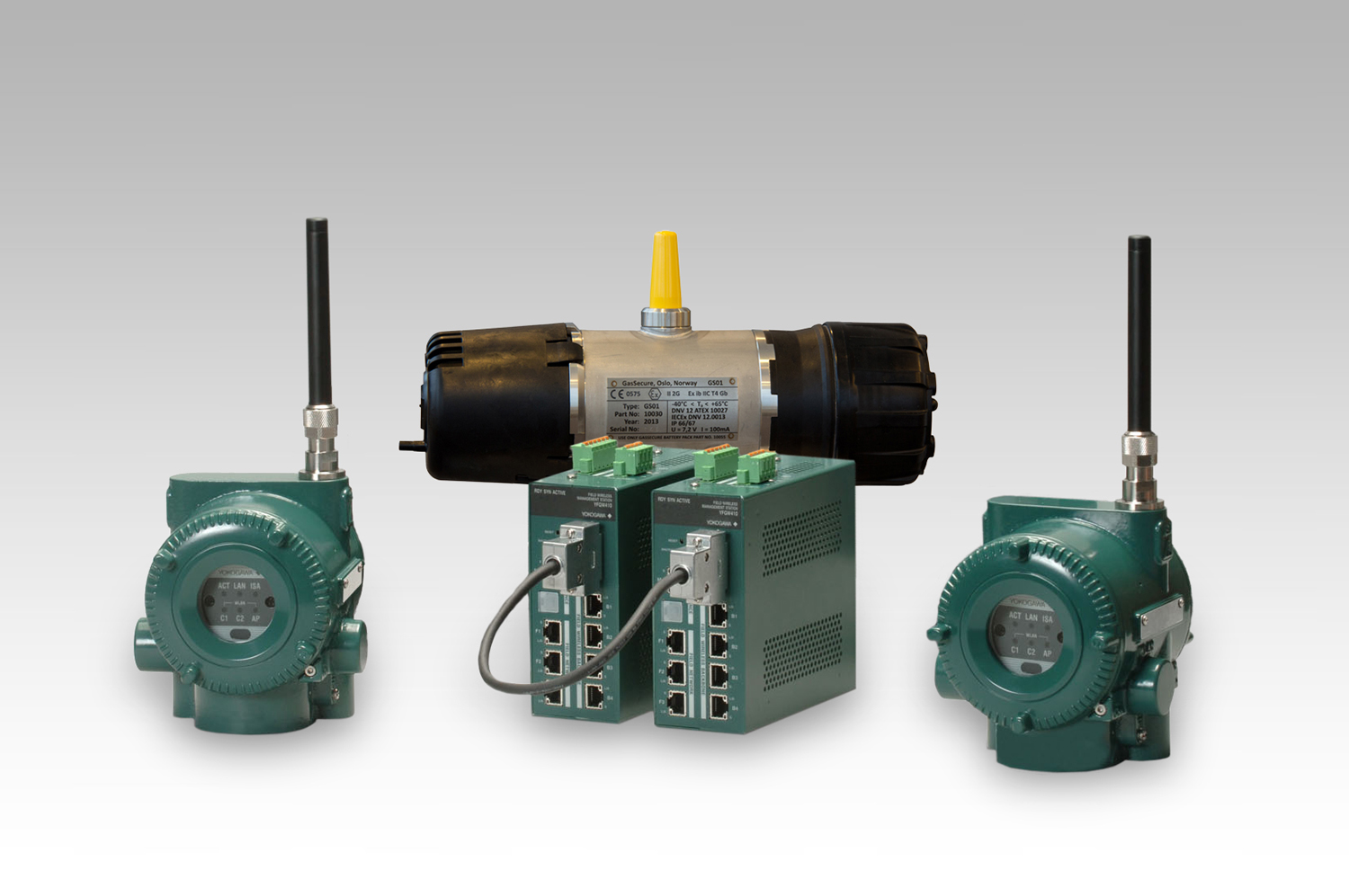 Wireless gas detection system