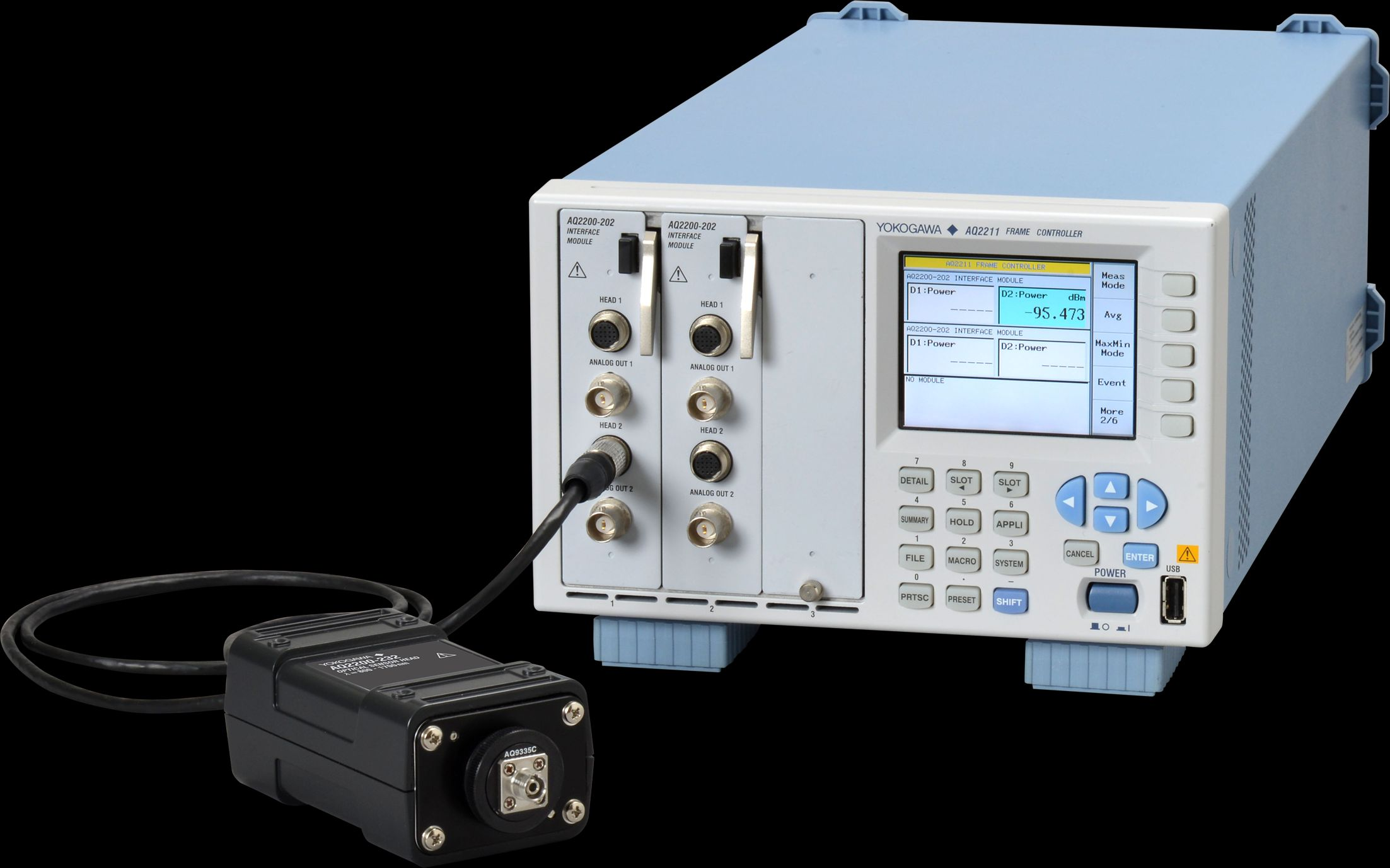 Yokogawa optical sensor head and modular test platform