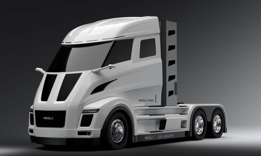 Zero emission Nikola fuel-celled electric long haul truck