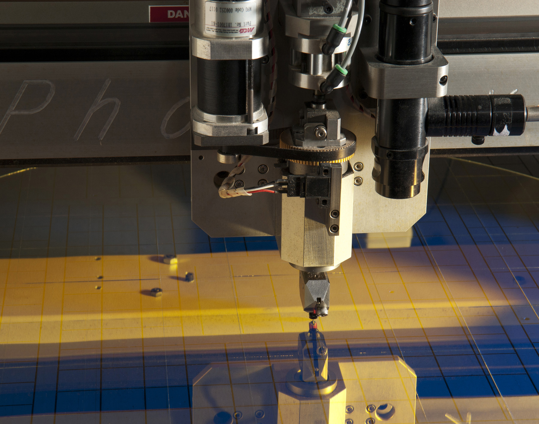 Precision scribing and cutting for coated optics