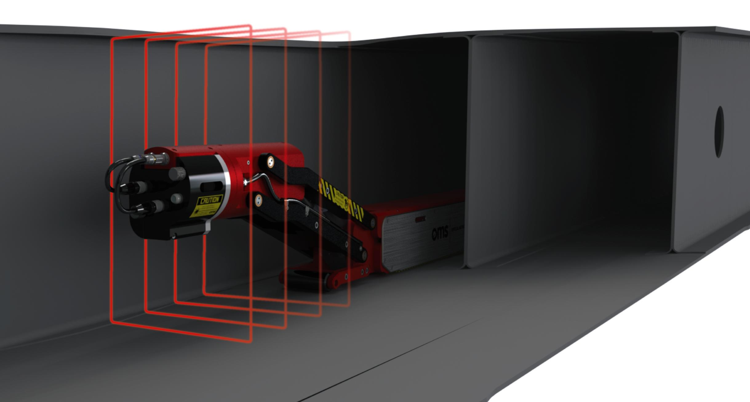 Measurement system for carbon fibre aircraft wing box sections