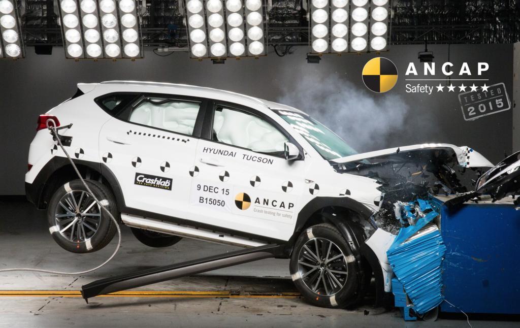 Hyundai Tucson crash test at ANCAP