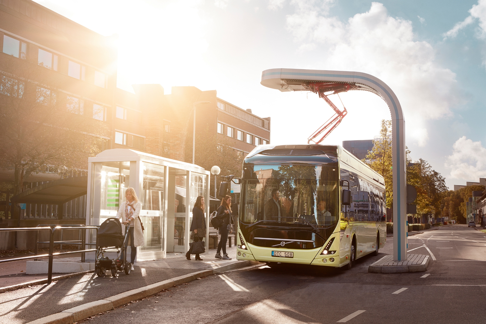 Innovative charging for electric buses