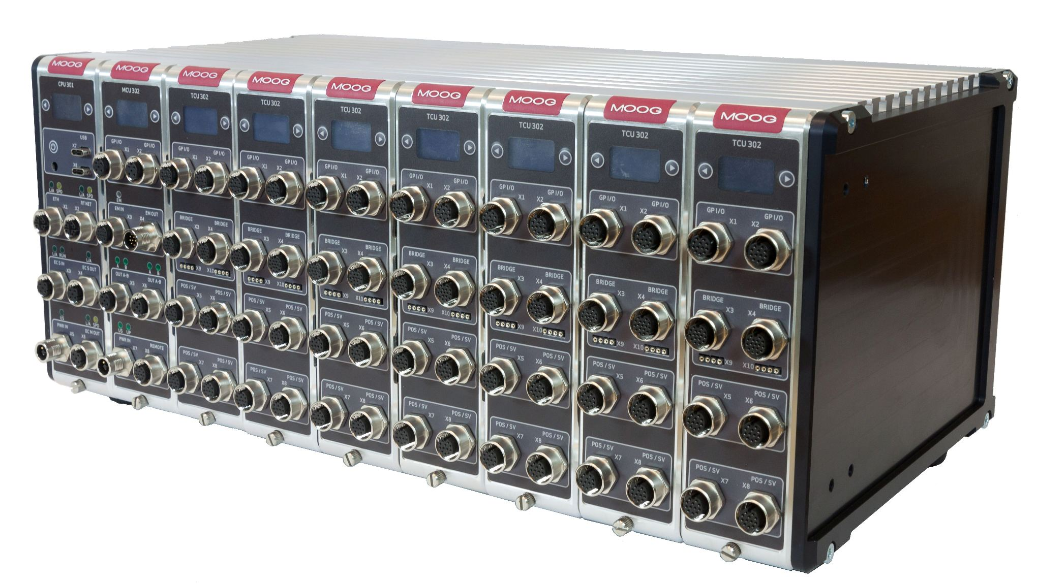 Modular system for controlling hydraulic and electrical test systems