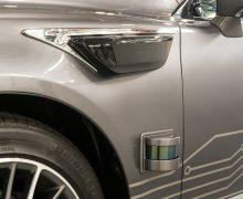 The Lexus Platform 3.0 incorporates blended sensors into its coachwork design
