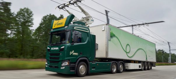 Truck for electric highways project