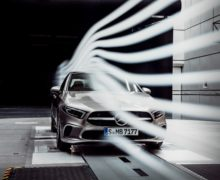 Wind tunnel testing at the Mercedes Sindelfingen test facility