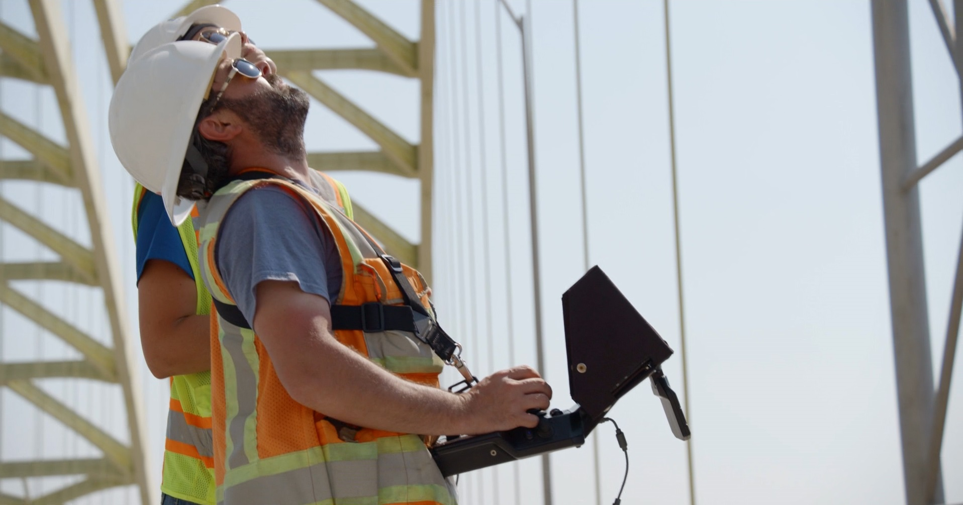 Large amounts of data from the drone sensors are stored in the cloud for engineering analysis