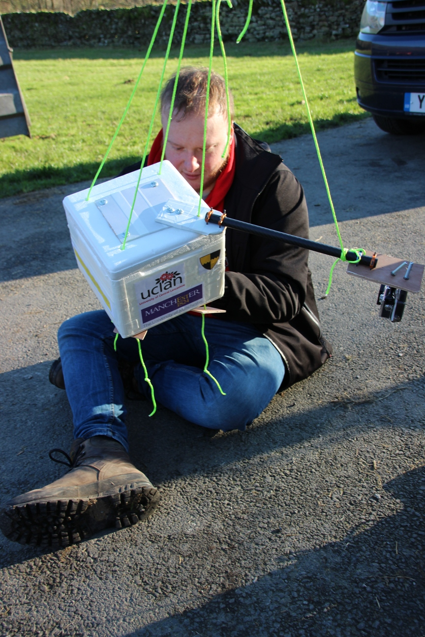The experiment requires an insulated container for GPS navigation equipment and sensors so results can be measured and the experiment recovered after landing