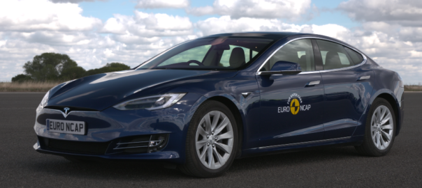 The Tesla Model S has been assessed using a new active safety system test regime implemented at Euro NCAP
