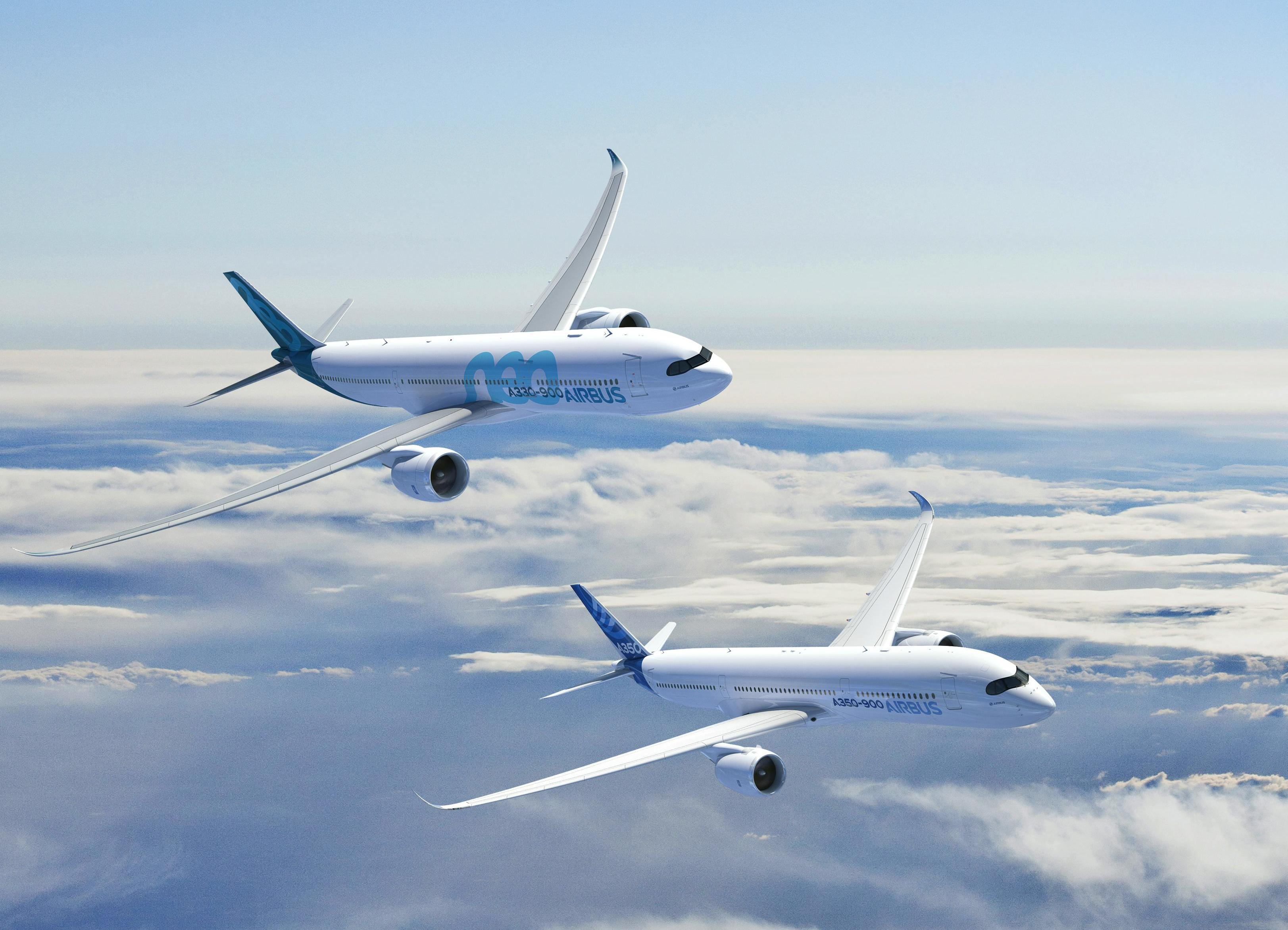 A350-900 with A330-900neo