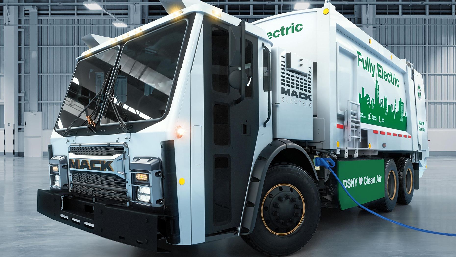 Fully electric Mack bin lorries will go on trial in New York next year to help cut emissions in the city