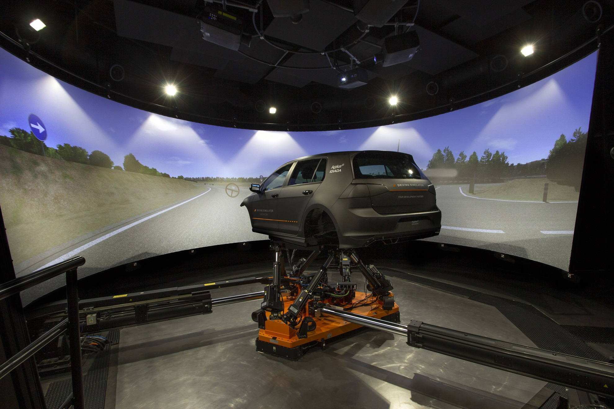 The Driver-in-Motion simulation system at Applus+ IDIADA replicates the Spanish company's proving grounds
