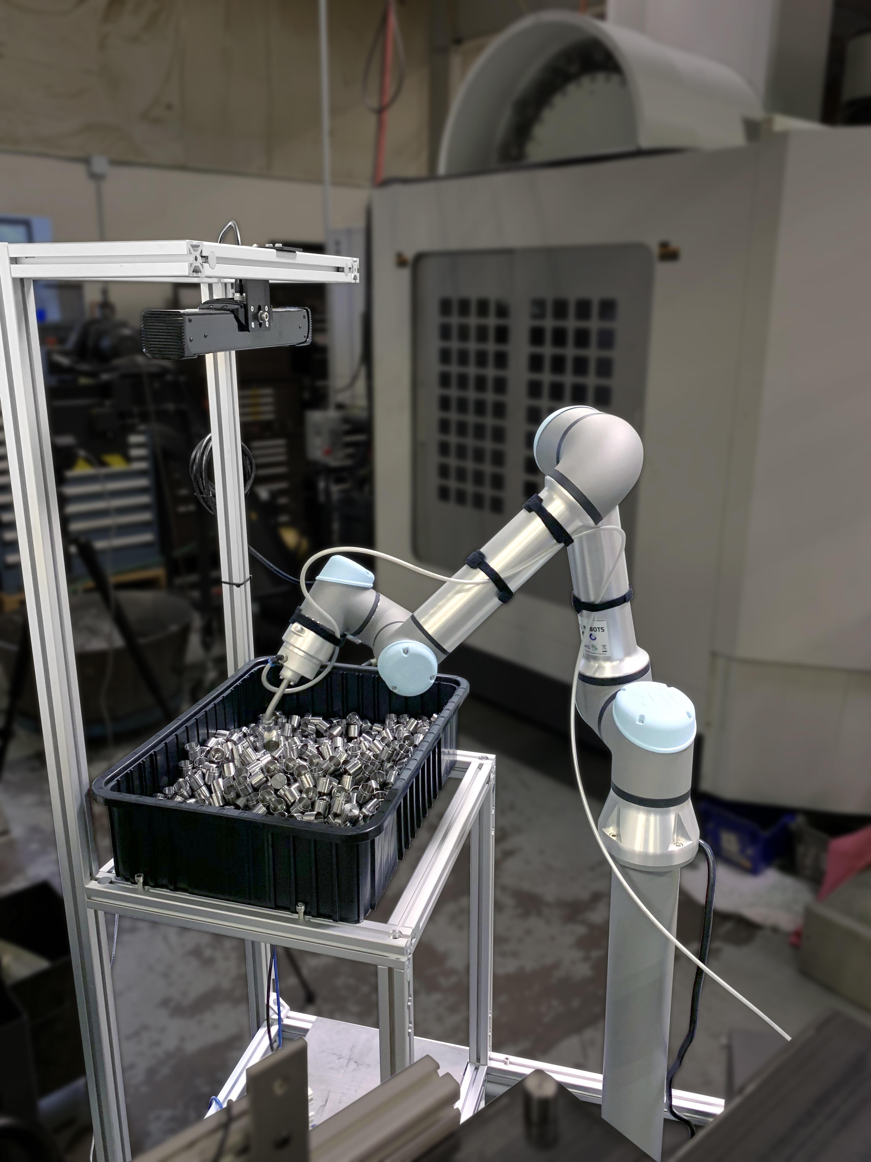 ActiNav robot makes random bin picking accessible to small facilities