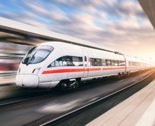 Carbon-carbon composite strips improve conductivity in railway pantographs