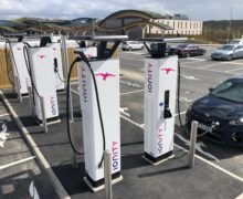 High-power charging station installed at Leeds Skeleton Lake Services