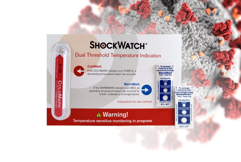 ShockWatch temperature monitor indicates whether samples have been transported in the right conditions