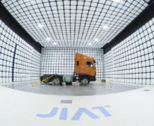 The anechoic EMC chamber at JIAT in South Korea is suitable for large commercial vehicle test subjects