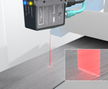 Laser distance sensor with ultra-thin sensing beam