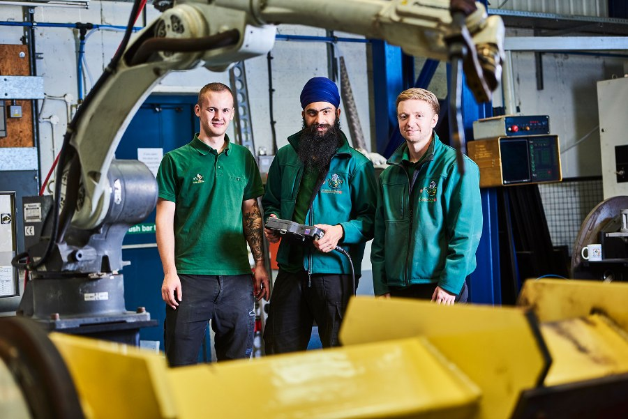 Matthew Pierson, Dalraj Singha and Ben Ellis gain benefit from apprenticeships at Cyber-Weld